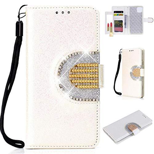 Bookstyle Sparkle Bling für Samsung S8 Plus,Glitter Diamond Musterg Slim Retro Klassisch Modisch Leder Stand Funktion Kartenfach Magnet Flip Wallet