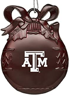 LXG, Inc. Texas A&M University - Pewter Christmas Tree Ornament - Burgundy
