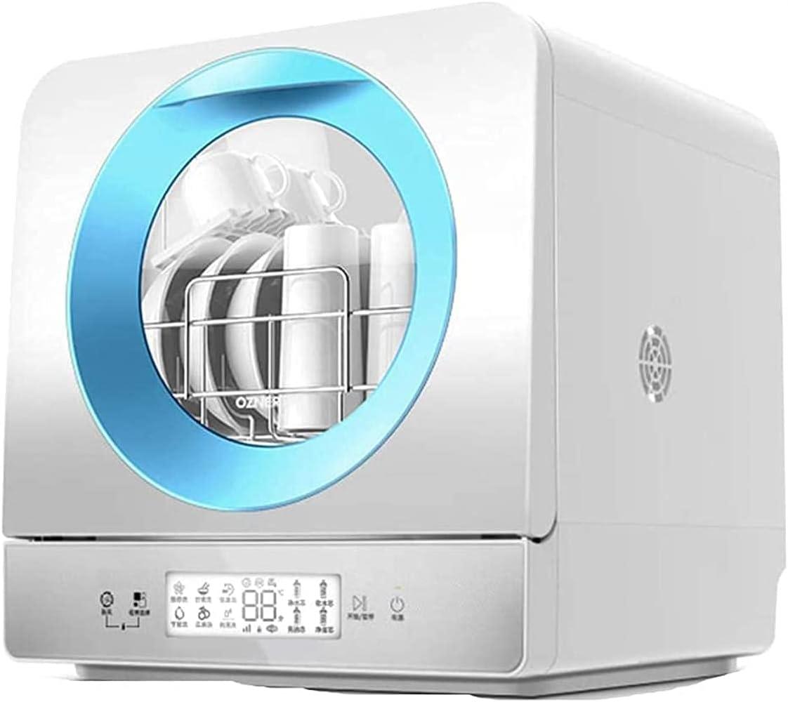 MOSHUO Lavavajillas Compacto de encimera, lavaplatos Independiente de Mesa, 6 programas Ajustables, diseño de bajo Consumo, bajo Nivel de Ruido, Lujoso Panel táctil [Clase energética A]
