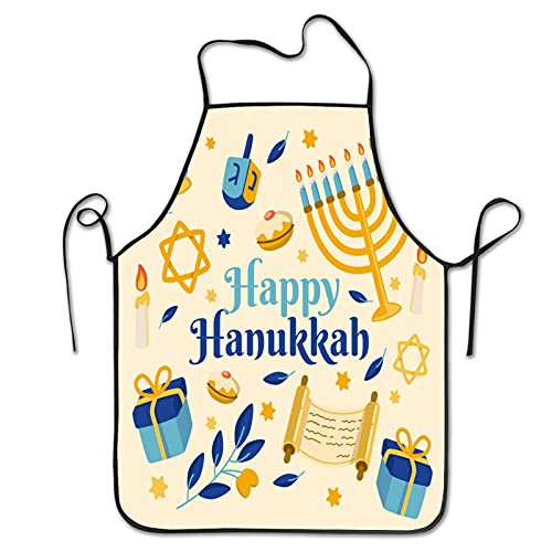 Flat hanukkah Aprons for Men Women for Grilling Cooking Chef Kitchen Crafting BBQ Outdoors