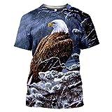 Moda Streetwear Falcon Animal Eagle Camiseta con Estampado 3D Verano Casual Hombres Hawk Camisetas Mujeres Tops de Manga Corta Style 15 M