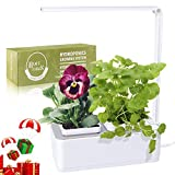 Indoor Herb Garden, Hydroponics Growing System for Herb/Vegetable, LED Grow Light with Timer & Self-Watering, Smart Garden Grow Kit for Home/Room/Kitchen/Office