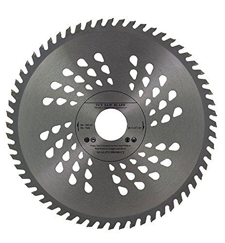 Hoja de sierra circular Voyto (210 x 32 mm, con orificio y anillo reductor de 30, 28, 25, 22 y 20 mm); para discos de corte de madera, 60 dientes