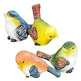 ZECAN 4 Piezas De Figuras De Pájaros De Resina, Mini Estatu