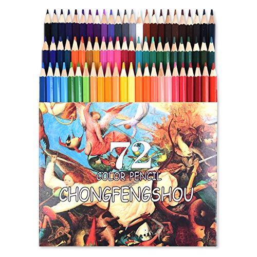 72色鉛筆セット 油性色鉛筆 カラーペン 画材セット 絵の具 アート鉛筆 塗り絵 美術 手帳 描き用 スケッチ用 プレゼント用 写生 学校教材 入学 文房具 子供、学生、大人向け 良い贈り物