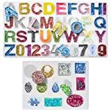Silicone Resin Molds 237Pcs DIY Alphabet Number Letter Resin Casting Mold Kit, Jewelry Craft Making Set Resin Mold Tool for Making Jewelry, Key Chain, House Number