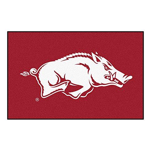 FANMATS NCAA University of Arkansas Razorbacks Nylon Face Starter Alfombra