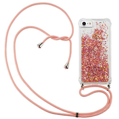 YKTO Fundas con iPhone 6/7/8 Glitter Arena Flowing Líquido Brillar Carcasas Cristal...