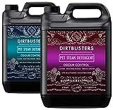 Dirtbusters Reinigungslösung für Dampfreiniger - entfernt rückstandslos Tiergerüche und Verschmutzungen & desodoriert - mit Kamillen-, Brombeer- und Feigenduft - 2 x 5 Liter Kanister