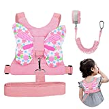 Accmor 3 in 1 Toddler Harness Safety Leashes + Anti Lost Wrist Link, Kids Harness Children Leash for Girls, Child Anti Lost Leash Baby Cute Safety Harness Belt Strap Hold Kids Close While Walking