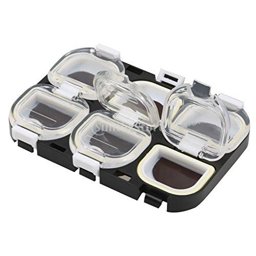 Produit neuf Plastique étanche magnétique Crochets de pêche Boîte étui de rangement support pour Attaquer Gear Noir