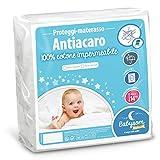 Babysom - Coprimaterasso per Bambino / Proteggi materasso Lettino per Neonato - Antiacari - 70x140 cm - Impermeabile - 100% Cotone - Traspirante -Elasticizzato e Silenzioso