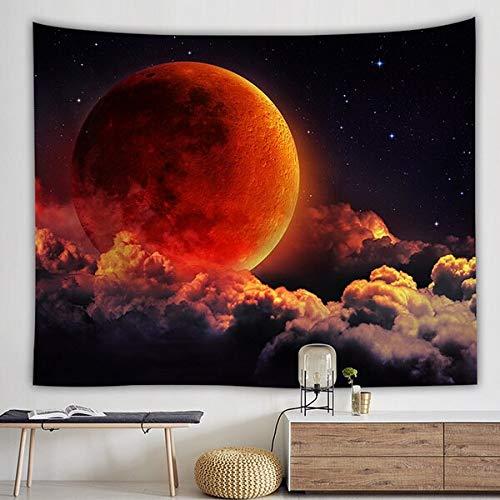 KHKJ Tapiz de Luna de océano decoración de Dormitorio Natural Colgante de Pared cortijo decoración de Transporte de Gota Tapiz de Revestimiento de Pared A3 150x200cm