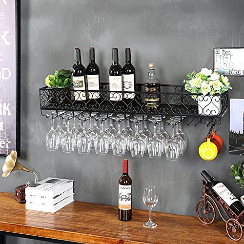botellero Vino Botellero para Vinos de Mostrador de Bar Creativo, Gabinete de Vino para Colgar En La Pared, Soporte de Vino de Restaurante, Estante de Almacenamiento de Vino de Hierro Forjado