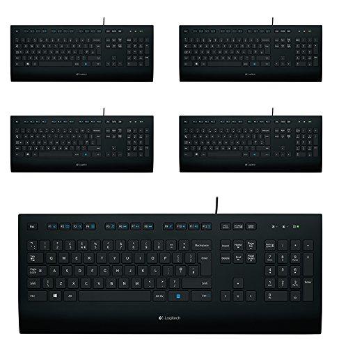 Logitech K280e Tastatur (Kabelgeb&en, QWERTZ, Deutsche Layout) (Schwarz | Sparpack)