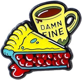 Oce180anYLV Creativo Spilla Pin Cartoon Smalto Torta Tazza di caffè Distintivo Collare Bavero Spilla Pin Vestiti Gioielli