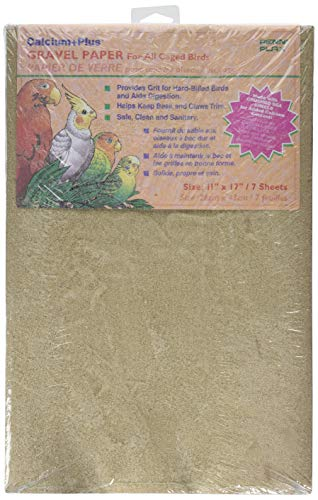 Penn-Plax BA639 Gravel Paper, 11' x 17' | Great for Hard-Billed Birds | Clean, Easy and Safe for Birds | Aids in Digestion