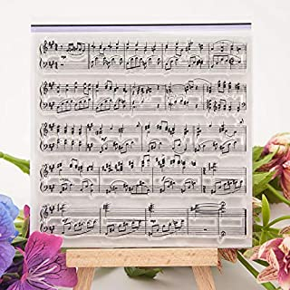 GIMITSUI Store Music Note Clear Stamp Silicone Scrapbook DIY Photo Cards Rubber Stamp