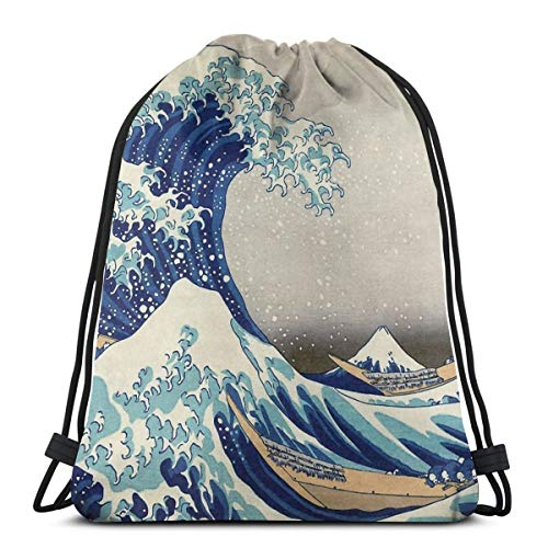 Best Price Prints Etc - Hokusai - The Great Wave Off Kanagawa - 1823 Waterproof Foldable Sport Sackpack Gym Bag Sack Drawstring Backpack