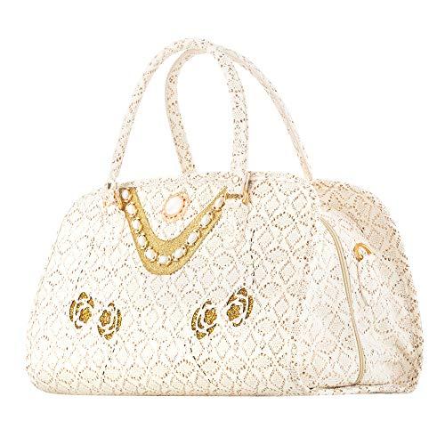 Reisetasche Handtasche Shopper Reise Tasche mit Applicationen 30x44x20 cm Yasmine Bowatex