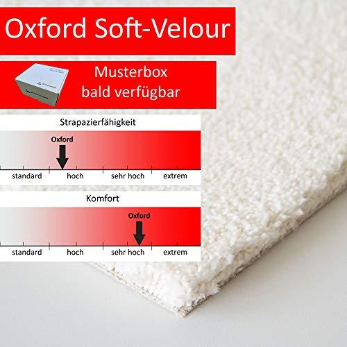 Steffensmeier Teppichboden Oxford Meterware | Auslegware für Kinderzimmer Wohnzimmer Schlafzimmer | Weiß, Größe: 400x400 cm