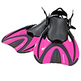 Snorkel Master Adult Hot Pink Swimming Snorkeling Fins, Small