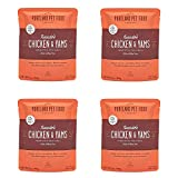 Portland Pet Food Company – Natural Wet Dog Food Pouches – Human-Grade, Gluten-Free Mixer or Dog Food Topper, Made in The USA Dog Food (Tuxedo's Chicken 4-Pack)