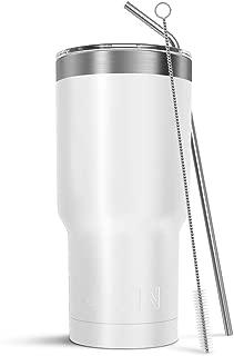 Atlin Tumbler [30 oz. Double Wall Stainless Steel Vacuum Insulation] Travel Mug [Crystal..