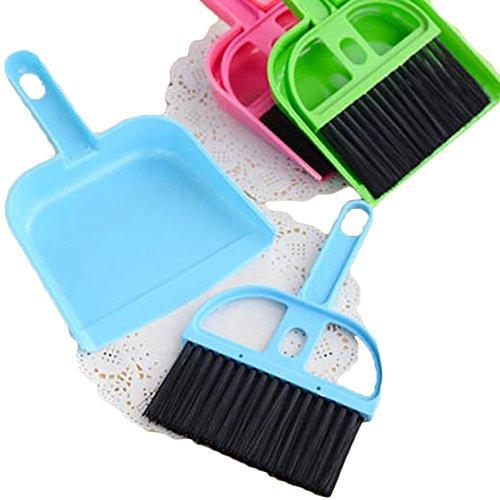 Set aus Mini-Handfeger und Handschaufel, Reinigungsset mit Kehrbesen und Kehrschaufel zur Reinigung von Desktop, Auto, Tastatur