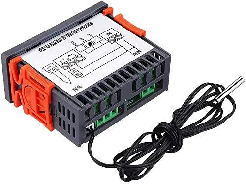 DIANLU43 XH-W2060 Embedded Embedded Gabinete de Termostato Digital Congelador Almacenamiento de frío Termostato Controlador de temperatura Control de temperatura (Tamaño: AC220V) Rendimiento estable