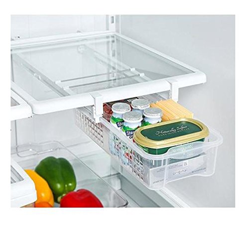 Fridge Mate - Cesta extraíble para nevera, ideal para organizar y ahorrar espacio