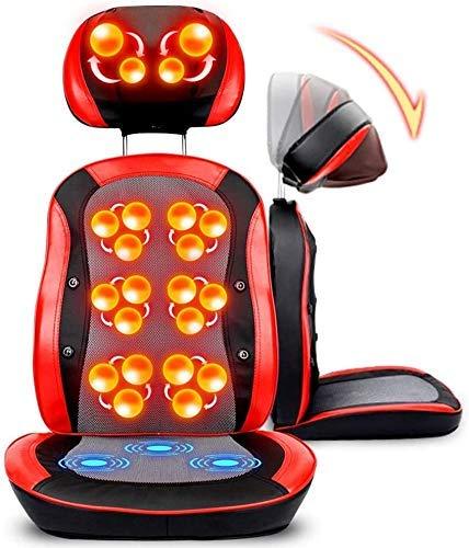 Living Equipment Cojines de masaje eléctricos Asiento de masaje Sillón de masaje Shiatsu Cuello trasero Hombro Masaje Colchón Cojinete de amasado Calefacción por infrarrojos Para silla Oficina en c
