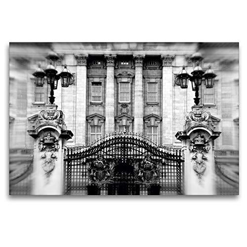CALVENDO Premium Textil-Leinwand 120 x 80 cm Quer-Format Buckingham Palace, Leinwanddruck von Reiner Silberstein
