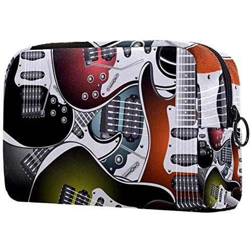 AITAI Bolsa de maquillaje grande bolsa de viaje cosmético organizador colorido guitarra...