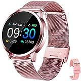 YUNFUN Smartwatch Mujer, Reloj Inteligente IP67 con Pulsómetro Presión Arterial 8 Modos de Deportes Monitor de Sueño Reloj Deportivo Compatible con Android iOS