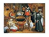 Jan Brueghel The Elder Interior of a Farmhouse Cuadros Decoracion Foto Canvas Cuadro Lienzos Decor Cuadros de Salón Cada Una Lmpreso Sobre Lienzo (40x50cm (16x20inch), sin marco)