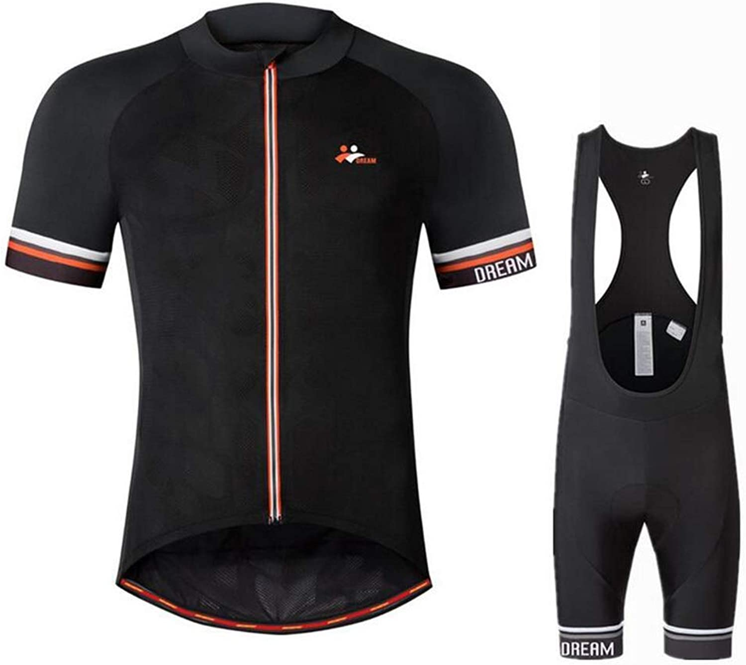 Cycling Jersey and Bib Shorts Set Bicycle Bike Short Sleeve Jersey with 3D Padded Breathable Quick Dry Non Slip for Mountain Bike Outdoor