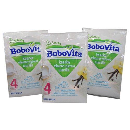Bobovita Milk and Rice Charlotte Mall Gruel Vanilla for 3 2021 new Pack Babies of 230g
