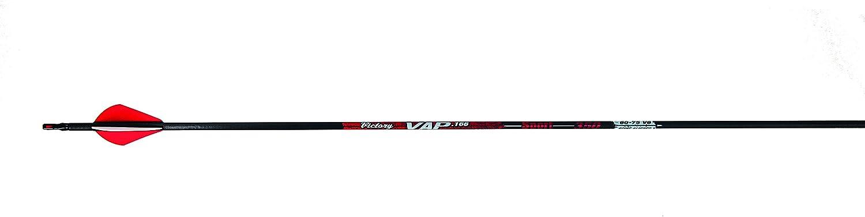 Victory Archery .006 350 Fletched VAP Sport Arrows (Pack of 12) Black
