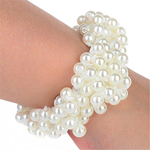 display08Modisches Perlen-Haar-Band, Haargummi für Pferdeschwanz, für Frauen