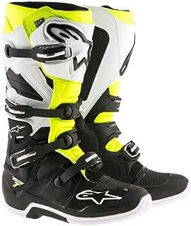 Alpinestars Tech 7 Enduro Motocross Boots - Black/White/Yellow - 11