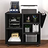 Hasuit Wood File Cabinet with Movable Casters, Home Office Rolling Filing...
