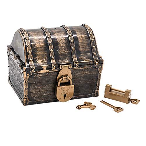Hellery Caja de Almacenamiento de Joyas con Cofre del Tesoro Pirata para...