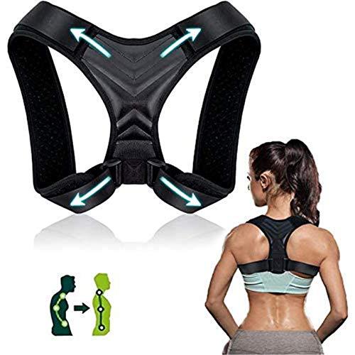 """Rücken Geradehalter,iThrough Haltungskorrektur Rücken Damen und Herren,Verstellbare Haltungskorrektur Rückenstütze,Linderung von Nacken,Rücken,Oberrücken und Schulterschmerzen (passt bei""""37-49"""")"""
