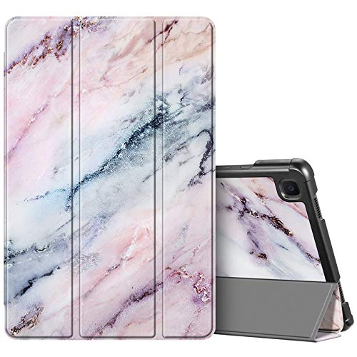 FINTIE SlimShell Case for Samsung Galaxy Tab A7 10.4'' 2020 SM-T500/SM-T505, Super Thin Lightweight Stand Cover with Auto Wake/Sleep Feature, Marble Pink