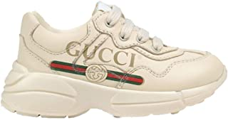Women's G-ucci Rhyton Logo Print Leather Trainers Mens Womens Sneakers casual shoes