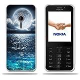 FUBAODA für Nokia 230 Hülle, [Super Moon] Transparente Silikon TPU Anti-Scratch Smart Schutz Slim Flexible 3D Protector für Nokia 230