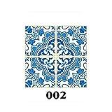 15ピース/セット8/10/12 / 15cm床タイル対角壁ステッカーデスクワードローブ装飾アート壁画浴室ウエストラインPVC壁ステッカー-DP002-12X12cmX15PCS