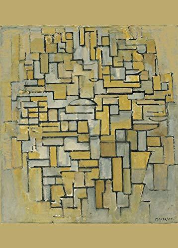 Vintage de stijl neo-plasticism Piet Mondrian Zusammensetzung in braun und grau (Gemà ¤ LDE keine. II. Zusammensetzung keine. IX. compositie 5) 1913. 250gsm, Hochglanz, A3, vervielfältigtes Poster