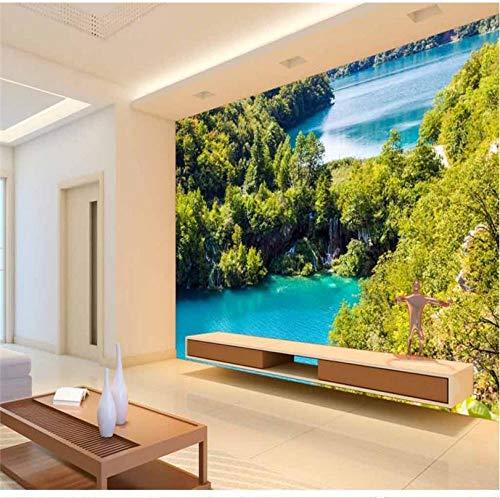 Aangepaste Wallpaper Landschap Beeld Lake Zand Slaapkamer TV Achtergrond Papel de Parede 3D para sala atacado 200 x 140 cm.